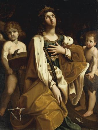 Italy, Saint Catherine with Angels--Giclee Print
