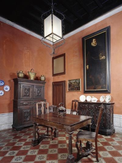 Italy, Sant Angelo Lodigiano, Morando Bolognini Castle, Dining Room--Giclee Print