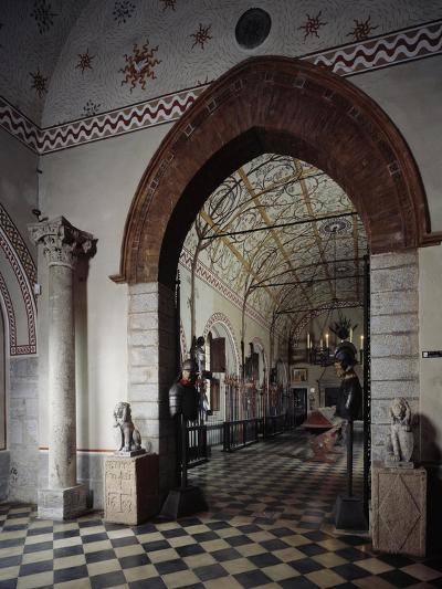 Italy, Sant Angelo Lodigiano, Morando Bolognini Castle, Entrance to Armory--Giclee Print