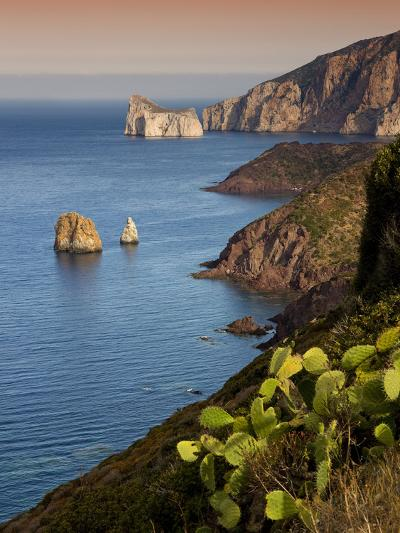 Italy, Sardinia, Nebida, Coastline, Sea, Dusk, Europe, South Island, West Coast, Scenery-Steffen Beuthan-Photographic Print