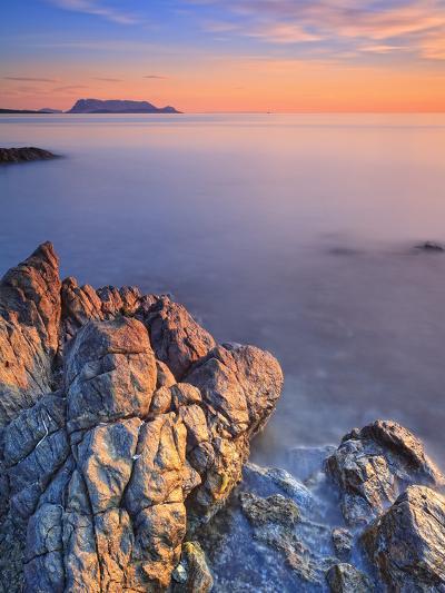 Italy, Sardinia, Olbia-Tempio District, Budoni, Coastline and Tavolara Island-Francesco Iacobelli-Photographic Print