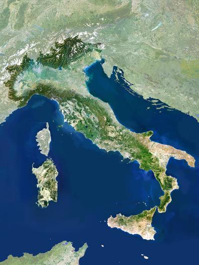 Italy, Satellite Image-PLANETOBSERVER-Photographic Print
