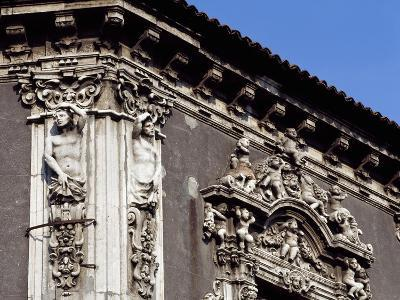 Italy, Sicily, Catania, Palazzo Biscari, Facade Rococo Decoration, Detail--Giclee Print