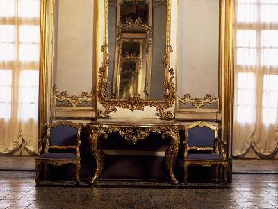 Italy, Sicily, Catania, Palazzo Biscari, the Ballroom, Furniture--Giclee Print