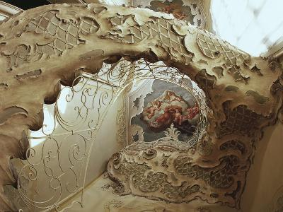 Italy, Sicily, Catania, Palazzo Biscari, the Ballroom, the Gallery, Rococo-Style Staircase--Giclee Print