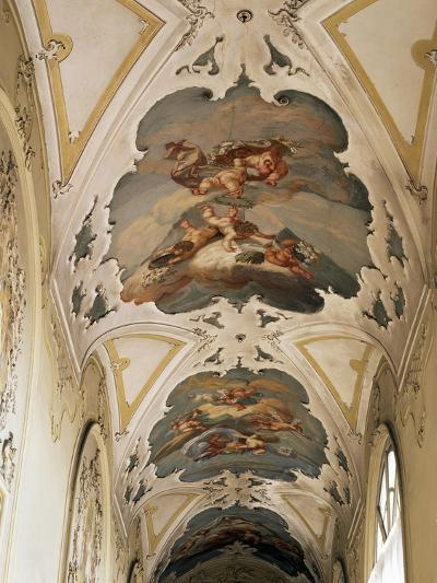 Italy, Sicily, Catania, Palazzo Biscari, the Ballroom, the Galleryed Vault--Giclee Print