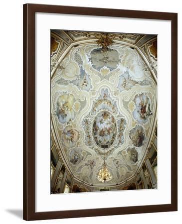 Italy, Sicily, Catania, the Ballroom, Palazzo Biscari Frescoed Vault of the Ballroom--Framed Giclee Print