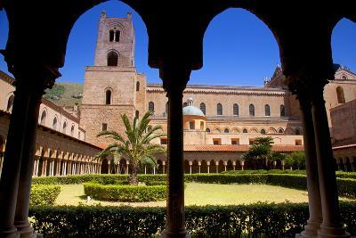 Italy, Sicily, Monreale. the Cathedral Form under the Monastery Arches.-Ken Scicluna-Photographic Print