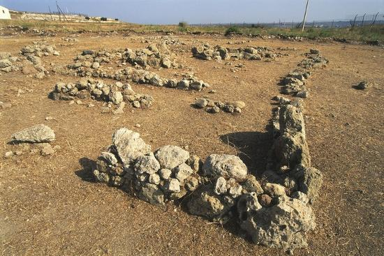 Italy, Sicily Region, Province of Siracusa, Thapsos Archaeological Site, Ruins of Village Huts--Giclee Print