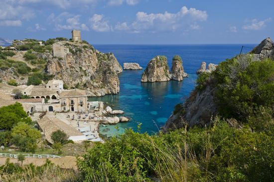 Italy, Sicily, Tonnara Di Scopello, Tuna Bay-Udo Bernhart-Photographic Print