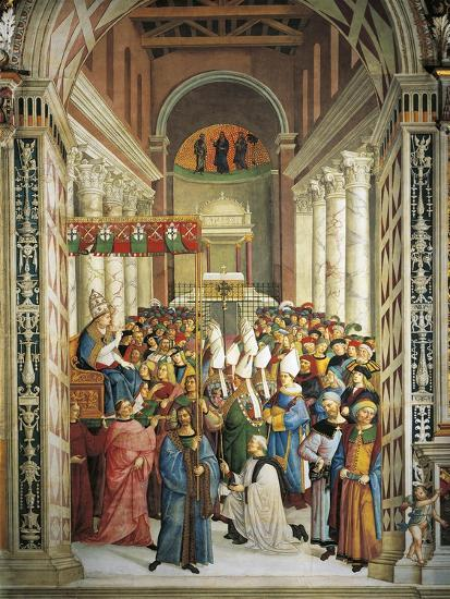 Italy, Siena, Cathedral, Piccolomini Library, Coronation of Pope Pius II--Giclee Print
