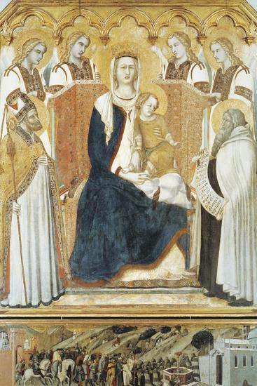 Italy, Siena, Madonna with Angels and Saints--Giclee Print