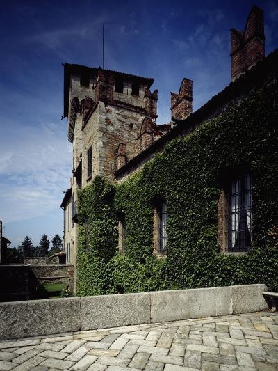 Italy, Somma Lombardo, Castello Visconti Di San Vito, Castle Tower in Winter--Giclee Print