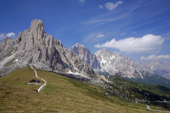Italy, South Tyrol, the Dolomites, Passo Giau, Ra Gusela, Tofana-Alfons Rumberger-Photographic Print