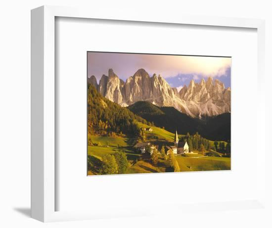 Italy, South Tyrol, Villn?Tal, St. Magdalena, Mountains, 'Geislerspitzen', Autumn-Thonig-Framed Photographic Print