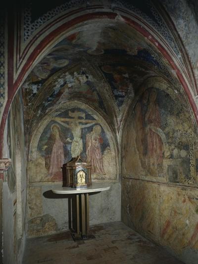 Italy, Subiaco, Sacro Speco Monastery, Upper Church Interior--Giclee Print