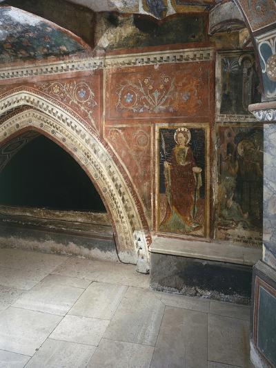 Italy, Subiacoes Decorated Interior Sacro Speco Monastery--Giclee Print