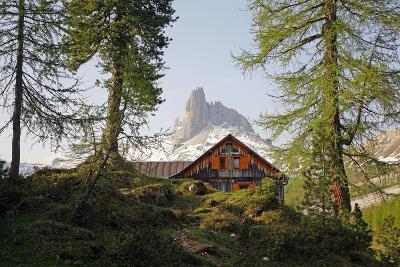 Italy, the Dolomites, South Tyrol, Cortina D'Ampezzo, Becco De Mezzodi, Rif. Croda There Lago-Alfons Rumberger-Photographic Print
