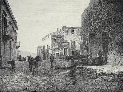 Italy, Trapani, Glimpse of Gibellina During Fasci Siciliani--Giclee Print
