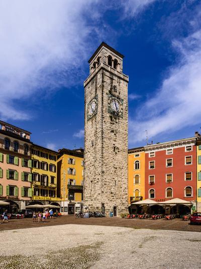 Italy, Trentino South Tyrol, Trentino, Lake Garda, Riva Del Garda, Torre Apponale-Udo Siebig-Photographic Print