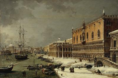 Italy, Trieste, Snow and Fog in Venice--Giclee Print