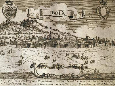 Italy, Troia, View of Troia--Giclee Print