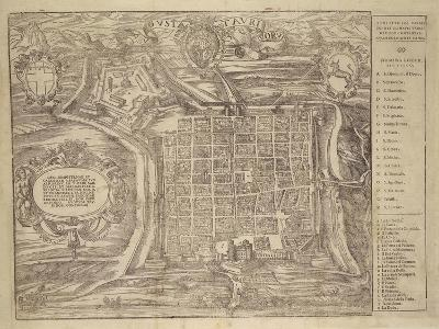 Italy, Turin, Layout of City and Fortress in Citade, 1572--Giclee Print