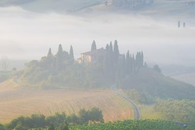Italy, Tuscany. Belvedere House in Morning Fog-Jaynes Gallery-Photographic Print
