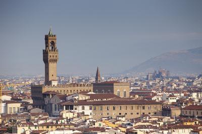 Italy, Tuscany, Florence. Palazzo Vecchio and Overview of Surroundings.-Ken Scicluna-Photographic Print