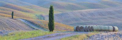 Italy, Tuscany. Hay Bales and Farmland-Jaynes Gallery-Photographic Print