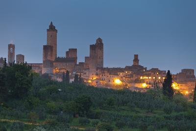 Italy, Tuscany, Province Siena, San Gimignano, Night-Rainer Mirau-Photographic Print