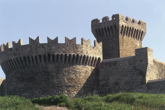 Italy, Tuscany Region, Maremma, Fortress of Populonia--Giclee Print