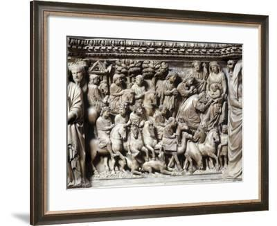 Italy, Tuscany, Siena, Baptistry, Pulpit, Adoration of the Magi, Detail--Framed Giclee Print