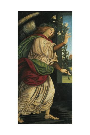Italy, Varallo, Painting of the Archangel Gabriel--Giclee Print