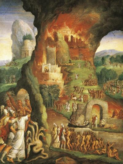Italy, Varallo Sesia, the Fire of Troy, Scene from the Aeneid--Giclee Print