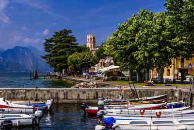 Italy, Veneto, Lake Garda, Torri Del Benaco, District Pai, Townscape-Udo Siebig-Photographic Print