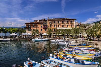 Italy, Veneto, Lake Garda, Torri Del Benaco, Harbour, Albergo Gardesana-Udo Siebig-Photographic Print