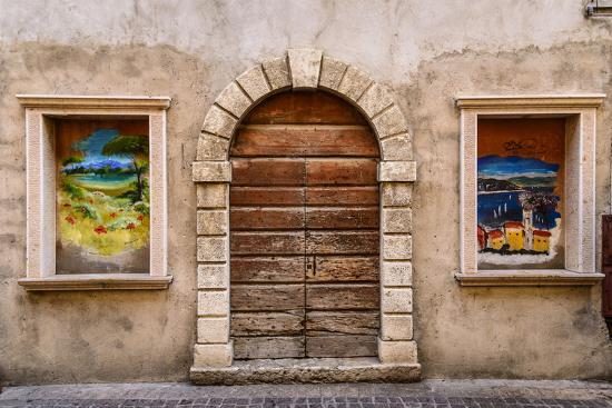 Italy, Veneto, Lake Garda, Torri Del Benaco, Old Town-Udo Siebig-Photographic Print