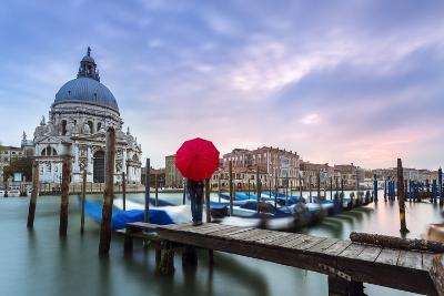 Italy, Veneto, Venice. Santa Maria Della Salute Church on the Grand Canal, at Sunset-Matteo Colombo-Photographic Print