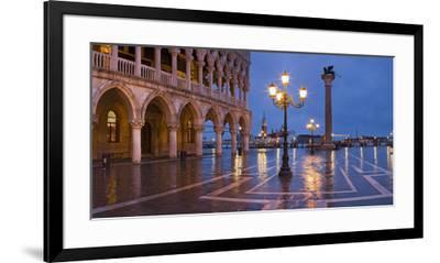 Italy, Veneto, Venice, St. Mark's Square, Doge's Palace, Lighting, Dusk-Rainer Mirau-Framed Photographic Print