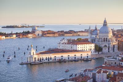 Italy, Veneto, Venice. the Church of Santa Maria Della Salute and the Punta Della Dogana. Unesco.-Ken Scicluna-Photographic Print