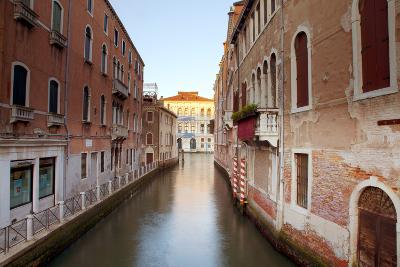 Italy, Veneto, Venice. Typical Venetian Palaces Leading to the Grand Canal.-Ken Scicluna-Photographic Print