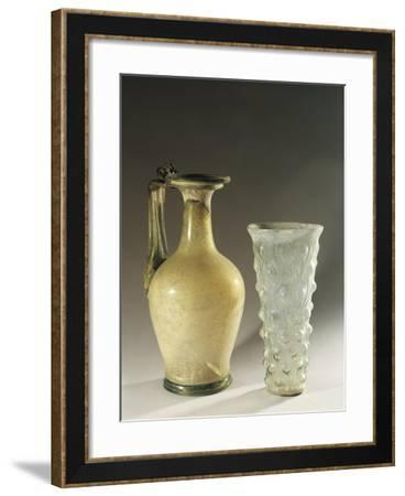 Italy, Veneto, Verona, Little Amphora and Blown Glass Work from the Necropolis--Framed Giclee Print