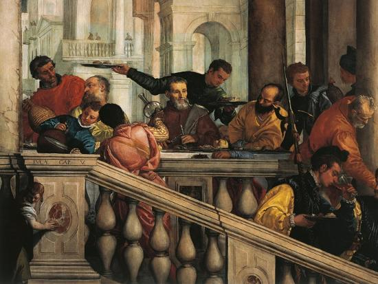 Italy, Venice, Feast in House of Levi, Guests--Giclee Print