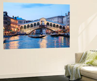 Italy, Venice. Grand Canal and Rialto Bridge-Matteo Colombo-Wall Mural