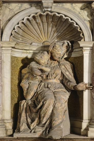 Italy, Venice, Loggia of Bell Tower of San Marco, Madonna with Child and Infant Saint John-Jacopo Tatti-Giclee Print
