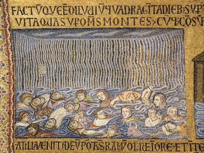 Italy, Venice, St Mark's Basilica, Deluge, Narthex Mosaic,13th Century--Giclee Print