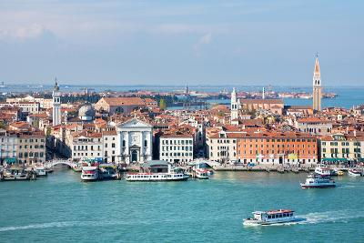 Italy.Venice. Top View of the Lagoon and District of Castello-katvic-Photographic Print