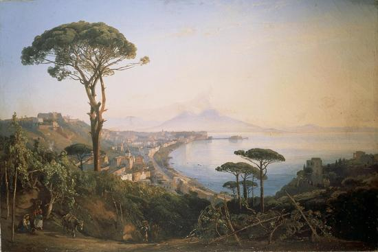 Italy, View of Naples from Posillipo Hill by Ercole Gigante--Giclee Print