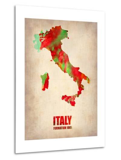 Italy Watercolor Map-NaxArt-Metal Print